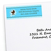 Boy Baby Carriage - Personalized Baby Shower Return Address Labels - 30 ct
