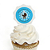 Boy Baby Carriage - Personalized Party Cupcake Picks and Sticker Kit - 12 ct