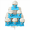 Boy Baby Carriage - Baby Shower Cupcake Stand and 13 Cupcake Wrappers