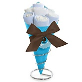 Boy Baby Carriage - Baby Shower Diaper Bouquets