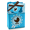Boy Baby Carriage - Personalized Baby Shower Favor Boxes