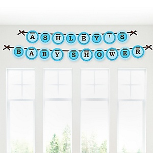 Boy Baby Carriage - Personalized Baby Shower Garland Banner