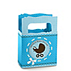 Boy Baby Carriage - Personalized Baby Shower Mini Favor Boxes