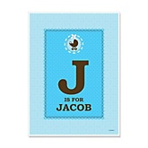 Boy Baby Carriage - Personalized Baby Shower Poster Gifts