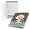 Modern Baby Boy Caucasian - Baby Shower Fill In Invitations - 8 ct