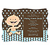 Modern Baby Boy Caucasian - Personalized Baby Shower Invitations