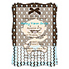 Modern Baby Boy Caucasian - Personalized Baby Shower Vellum Overlay Invitations