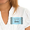 Modern Baby Boy - Personalized Baby Shower Name Tag Stickers - 8 ct