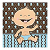 Modern Baby Boy Caucasian - Baby Shower Luncheon Napkins - 16 ct