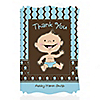 Modern Baby Boy Caucasian - Personalized Baby Shower Thank You Cards