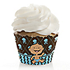 Modern Boy Caucasian First Birthday Party - Birthday Party Cupcake Wrappers