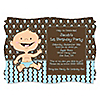 Modern Boy Caucasian First Birthday Party - Personalized Birthday Party Invitations