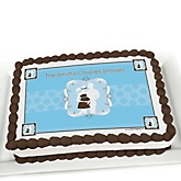 Silhouette Couples Baby Shower - It's A Boy - Personalized Baby Shower Cake Image Topper