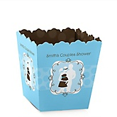 Silhouette Couples Baby Shower - It's A Boy - Personalized Baby Shower Candy Boxes