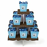 Silhouette Couples Baby Shower - It's A Boy - Baby Shower Candy Stand & 13 Fill Your Own Candy Boxes