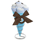 Silhouette Couples Baby Shower - It's A Boy - Baby Shower Diaper Bouquets