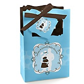 Silhouette Couples Baby Shower - It's A Boy - Personalized Baby Shower Favor Boxes