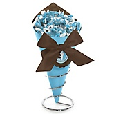Silhouette Couples Baby Shower - It's A Boy - Baby Shower Candy Bouquets with Frooties
