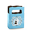 Silhouette Couples - It's A Boy - Personalized Baby Shower Mini Favor Boxes