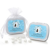 Silhouette Couples Baby Shower - It's A Boy - Mint Tin Personalized Baby Shower Favors