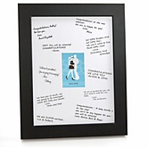 Silhouette Couples Baby Shower - It's A Boy - Personalized Baby Shower Print with Signature Mat