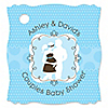 Silhouette Couples Baby Shower - It's A Boy - Personalized Baby Shower Tags - 20 ct