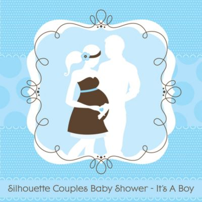Silhouette Couples Baby Shower   Itu0027s A Boy   Baby Shower Theme