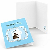 Silhouette Couples Baby Shower - It's A Boy - Baby Shower Thank You Cards - Set of  8