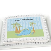 Baby Boy Dinosaur - Personalized Baby Shower Cake Image Topper