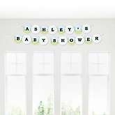 Baby Boy Dinosaur - Personalized Baby Shower Garland Letter Banners