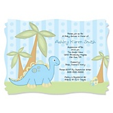 Baby Boy Dinosaur - Boy Baby Shower Invitations