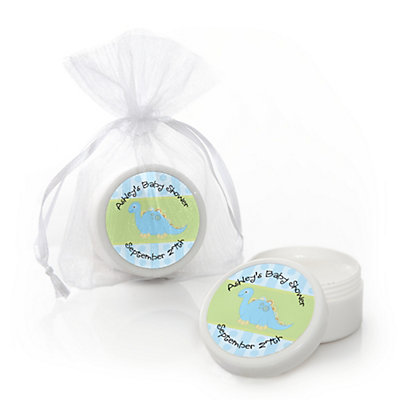 Baby Boy Dinosaur - Personalized Baby Shower Lip Balm Favors...