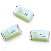 Baby Boy Dinosaur - Personalized Baby Shower Mini Candy Bar Wrapper Favors - 20 ct