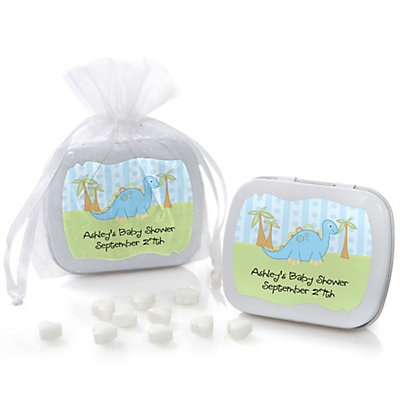 Baby Boy Dinosaur - Mint Tin Personalized Baby Shower Favors...