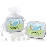 Baby Boy Dinosaur - Mint Tin Personalized Baby Shower Favors