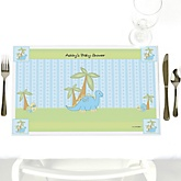 Baby Boy Dinosaur - Personalized Baby Shower Placemats