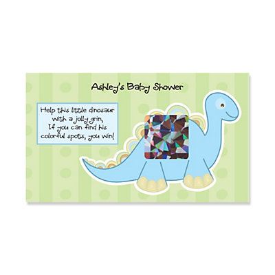 Dinosaur Baby Shower Scratch-Off cards