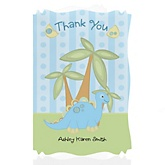 Baby Boy Dinosaur - Personalized Baby Shower Thank You Cards