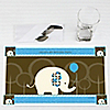 Boy Elephant - Personalized Birthday Party Placemats