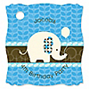 Boy Elephant - Personalized Birthday Party Tags - 20 ct