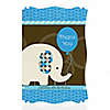 Boy Elephant - Personalized Birthday Party Thank You Cards