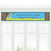Giraffe Boy - Personalized Baby Shower Banner