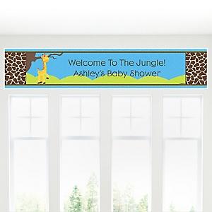 Giraffe Boy - Personalized Baby Shower Banner