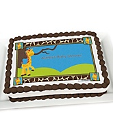Giraffe Boy - Personalized Baby Shower Cake Image Topper
