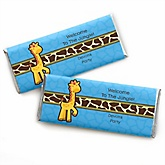 Giraffe Boy - Personalized Baby Shower Candy Bar Wrapper