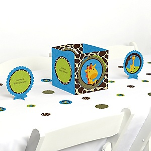 Giraffe Boy - Baby Shower Centerpiece & Table Decoration Kit