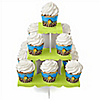 Giraffe Boy - Baby Shower Cupcake Stand and 13 Cupcake Wrappers