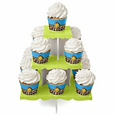 Giraffe Boy - Baby Shower Cupcake Stand & 13 Cupcake Wrappers