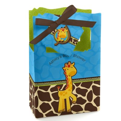 Giraffe Boy   Personalized Baby Shower Favor Boxes