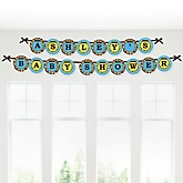 Giraffe Boy - Personalized Baby Shower Garland Banner